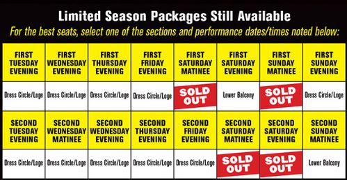 Broadway in Chicago Season tickets