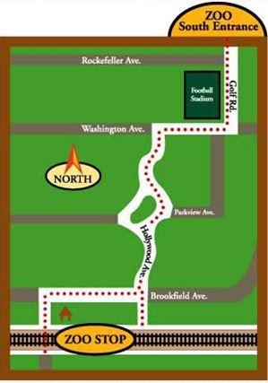 Brookfield Zoo Metra Map