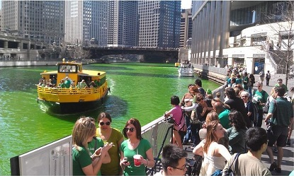 Chicago Water Taxi St. Patricks Day