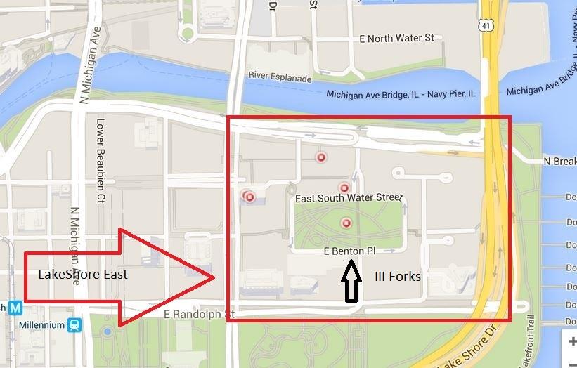 LakeShore East III Forks Map