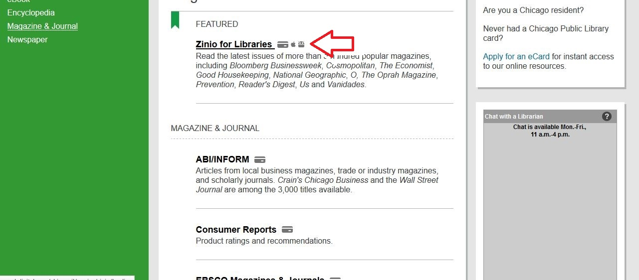 how to access free magazines on the cpl website - chicago on the cheap