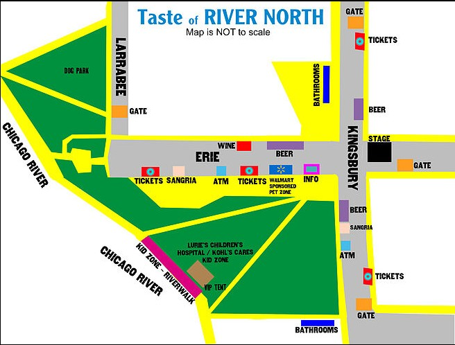 Taste of River North map
