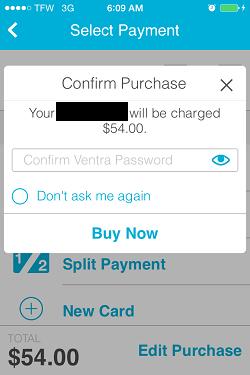 Ventra App Metra Ticket screen 13
