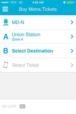 Ventra App Metra Ticket screen 7