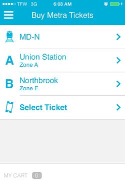 Ventra App Metra Ticket screen 9