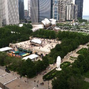 View from Cindy's Millennium Park