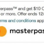 Walgreens $10 off $50 purchase with Masterpass