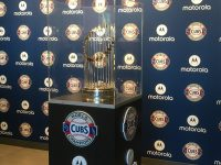 Free picture with World Series Trophy